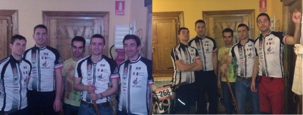 Fotos oficiales con el maillot conmemorativo